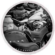 2 - Harley Davidson Series Round Beach Towel