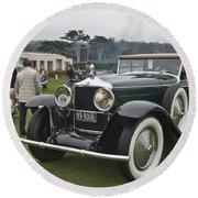 1929 Minerva Type Am Murphy Convertible Sedan Round Beach Towel