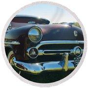 1952 Ford Customline Round Beach Towel
