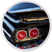 1959 Chevrolet El Camino Taillight Round Beach Towel