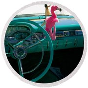 1959 Edsel Ford Round Beach Towel
