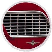 1960 Maserati 3500 Gt Coupe Emblem Round Beach Towel