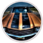 1972 Chevelle Round Beach Towel
