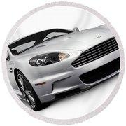2009 Aston Martin Dbs Round Beach Towel
