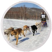 2010 Limited North American Sled Dog Race Round Beach Towel