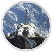 A Partial View Of Space Shuttle Round Beach Towel