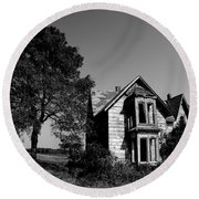 Abandoned House Round Beach Towel by Cale Best