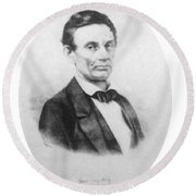 Abraham Lincoln, 16th American President Round Beach Towel by Science Source