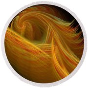 Abstract 100 Round Beach Towel