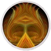 Abstract 103 Round Beach Towel