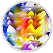 Abstract 61 Round Beach Towel