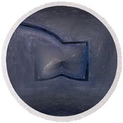 Abstract Ice Round Beach Towel