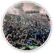 American Civil War, Battle Round Beach Towel