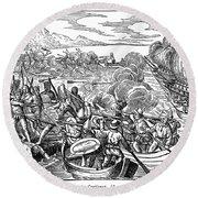 Amerigo Vespucci (1454-1512) Round Beach Towel