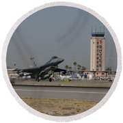 An F-16 Fighting Falcon Takes Round Beach Towel