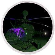 An Oh-58d Kiowa Helicopter At Cob Round Beach Towel