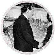 Andre Malraux (1901-1976) Round Beach Towel