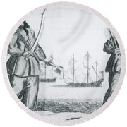 Anne Bonny And Mary Read, 18th Century Round Beach Towel by Photo Researchers