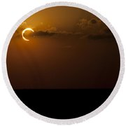 Annular Solar Eclipse Round Beach Towel