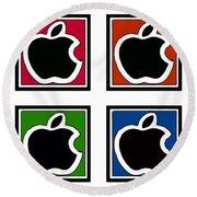 Apple Colors Round Beach Towel