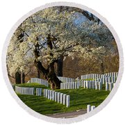 Arlington National Cemetary Round Beach Towel