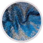 Art Abstract 3d Round Beach Towel