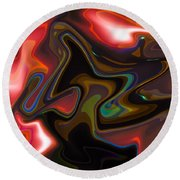 Art Abstract Round Beach Towel