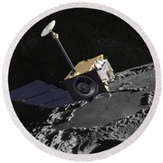 Artist Concept Of The Lunar Round Beach Towel
