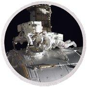 Astronauts Participate Round Beach Towel