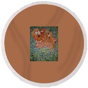 August In Scituate Round Beach Towel