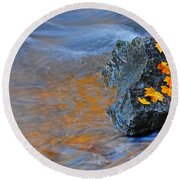 Autumn Flow Round Beach Towel