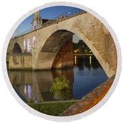Avignon Bridge Round Beach Towel