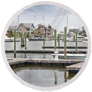 Bald Head Island Marina  Round Beach Towel