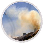 Barnett Fire Round Beach Towel