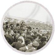 Baseball: Playoff, 1908 Round Beach Towel