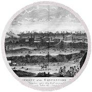 Battle Of Saratoga, 1777 Round Beach Towel