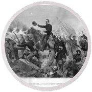 Battle Of Spotsylvania Round Beach Towel