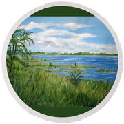 Bayville 1 Round Beach Towel