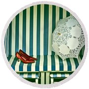 Beach Chair Round Beach Towel by Joana Kruse