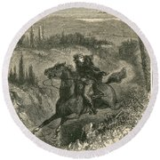 Benedict Arnold, American Traitor Round Beach Towel by Photo Researchers