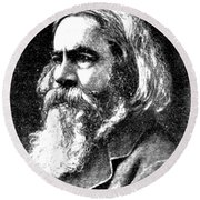 Benjamin Peirce, American Mathematician Round Beach Towel