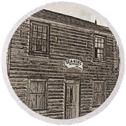Boat Builders Cottage Round Beach Towel