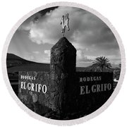Bodegas El Grifo  Round Beach Towel