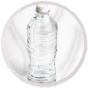 Bottled Water Round Beach Towel