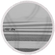 Boulder County Colorado Open Space Country View Round Beach Towel by James BO  Insogna