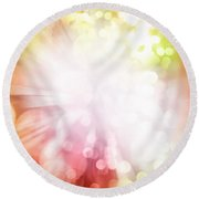 Bright Background Round Beach Towel