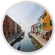 Burano - Venice - Italy Round Beach Towel by Joana Kruse