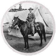 Calamity Jane (c1852-1903) Round Beach Towel