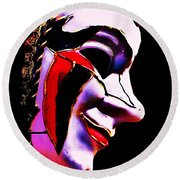 Carnival Mask Round Beach Towel