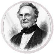 Charles Babbage, English Computer Round Beach Towel